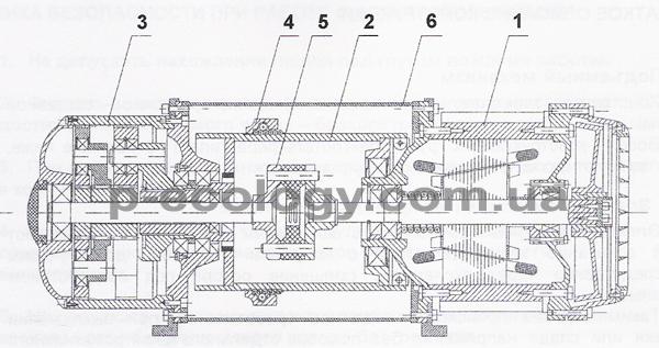 Электродвигатель тельфера со